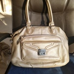 Soft Golden Leather Handbag